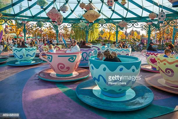 Mad Hatter's Teacup Ride at Disneyland Resort Paris.
