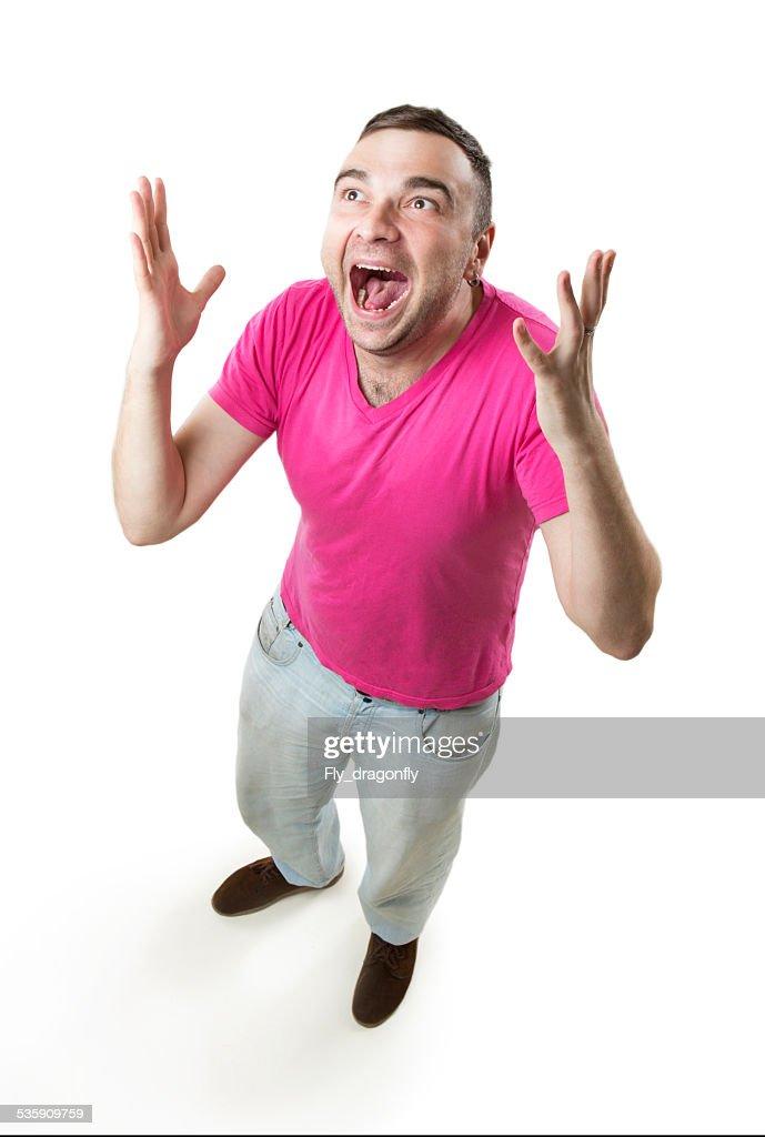 Mad alegría jubilation : Foto de stock