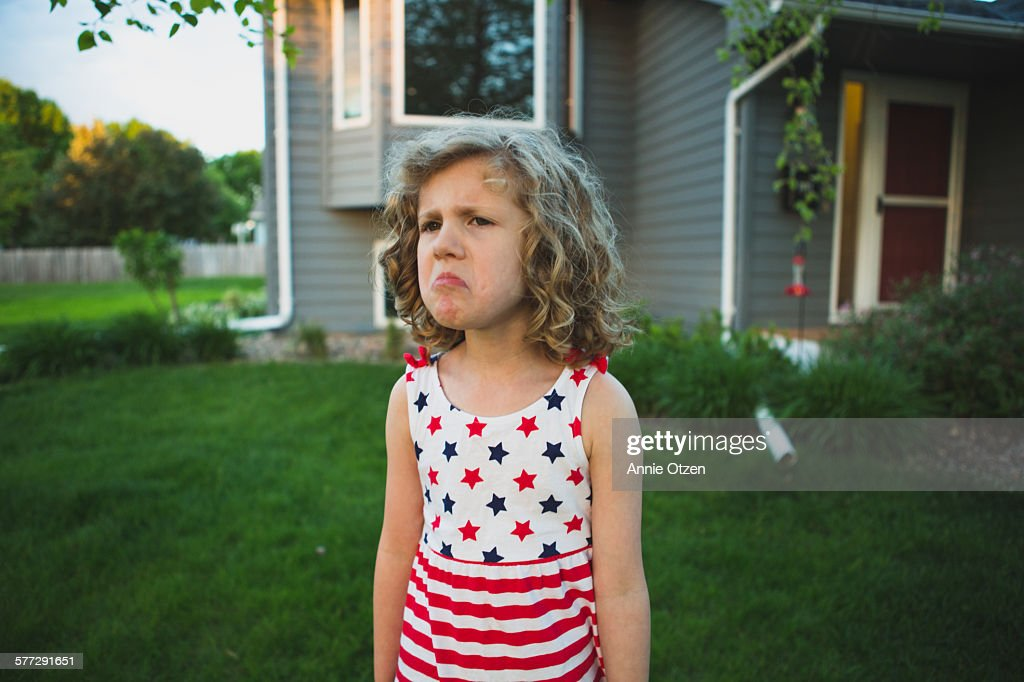 Mad Little Girl : Stock Photo
