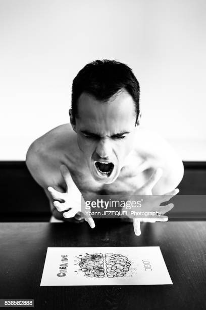 mad man depressed patient - paris fury stock pictures, royalty-free photos & images