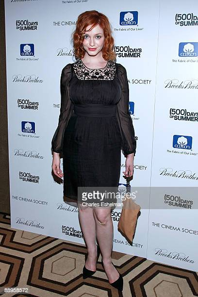 'Mad Men' actress Christina Hendricks attends a screening of '500 Days of Summer' hosted by the Cinema Society with Brooks Brothers Cotton at the...
