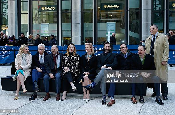 Mad Men cast members Elisabeth Moss John Slattery show creator writer and executive producer Matthew Weiner cast members Christina Hendricks January...