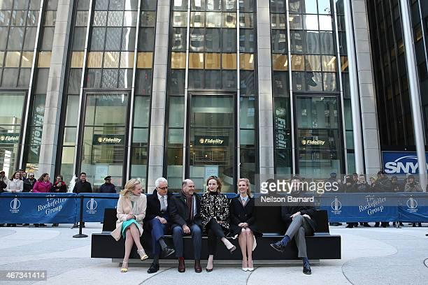Mad Men cast members, Jon Hamm, January Jones, Elisabeth Moss, Christina Hendricks and John Slattery, with show creator, writer and executive...