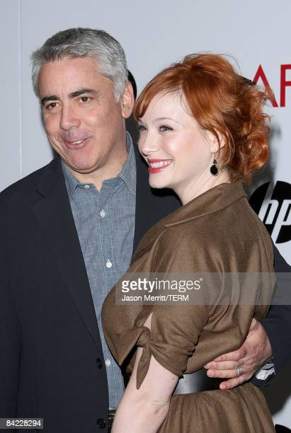 """Mad Men"""" Creator Adam Larkin and actress Christina Hendricks arrive at the AFI Awards 2008 held at the Four Seasons Hotel on January 9, 2009 in Los..."""