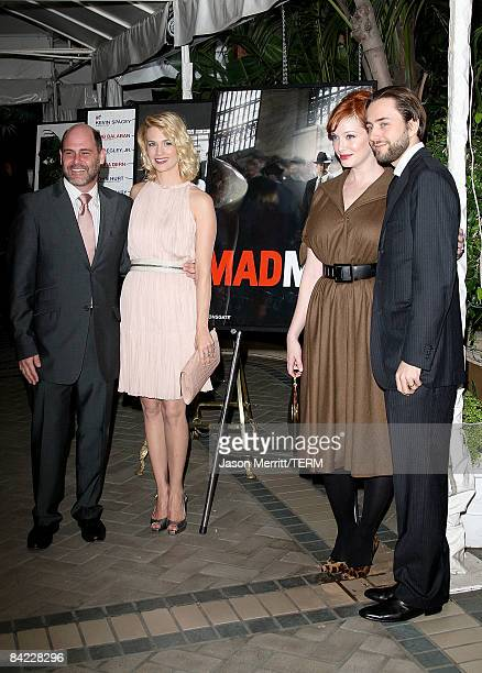 "Mad Men"" Creator Matthew Weiner, actors January Jones, Christina Hendricks, and Vincent Kartheiser arrive at the AFI Awards 2008 held at the Four..."