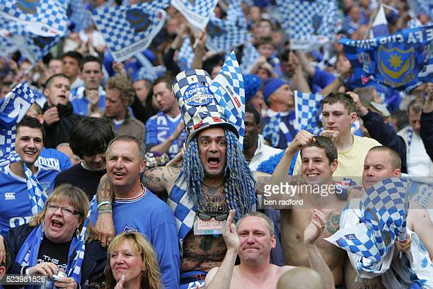 Mad Portsmouth fan full name John Anthony Portsmouth Football Club Westwood celebrates after the 2008 FA Cup Final between Portsmouth and Cardiff...