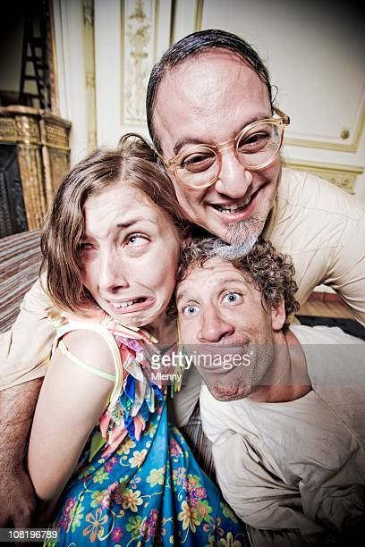 mad psychologist and his insane patients - psychiatric hospital stock pictures, royalty-free photos & images