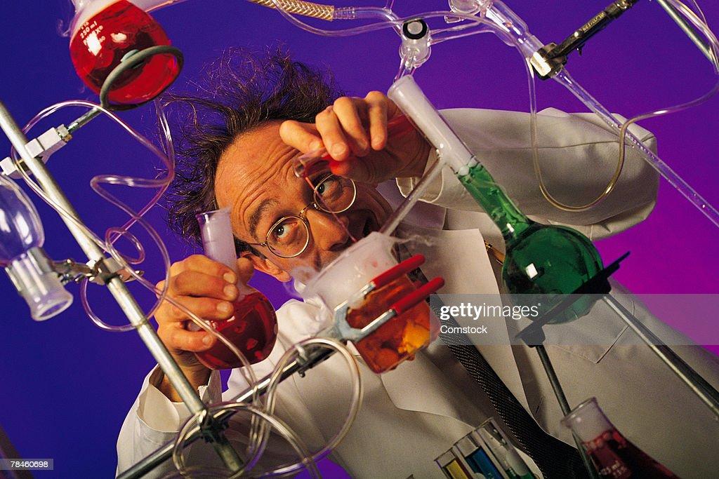 Mad scientist : Stock Photo