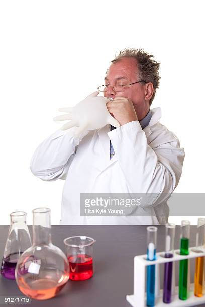 Mad Scientist playing in laboratory