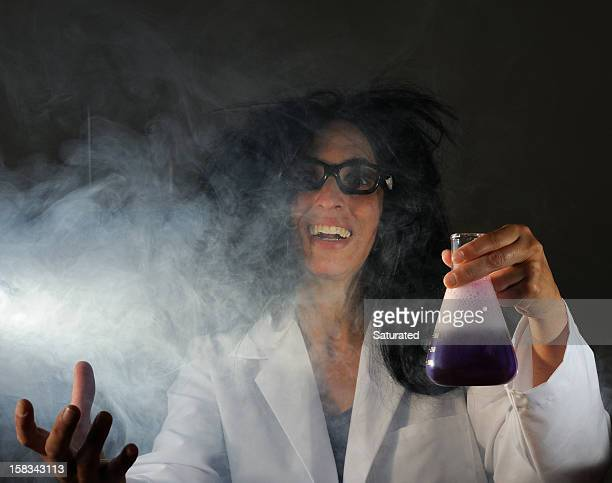 Mad Scientist Surrounded by Swirling Smoke