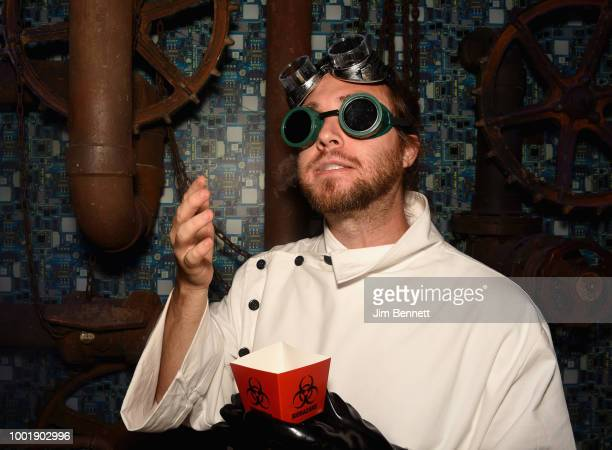 A mad scientist tastes the mysterious creations of Dr Niles Caulder in the Doom Patrol lab at The DC UNIVERSE Experience at ComicCon International on...