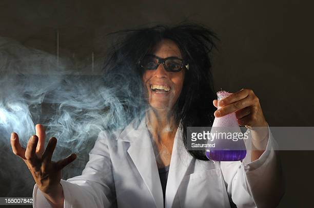 Mad Scientist with Foaming Purple Chemical