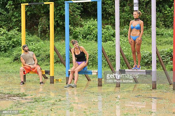 Mad Treasure Hunt Tony Vlachos Morgan McLeod and Jefra Bland compete for Immunity during the seventh episode of SURVIVOR CAGAYAN Wednesday April 9 on...