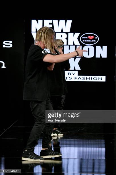 Mad TwinZ Pavel and Evgeny perform during EXES ITALIA At New York Fashion Week Powered by Art Hearts Fashion NYFW September 2019 at The Angel...