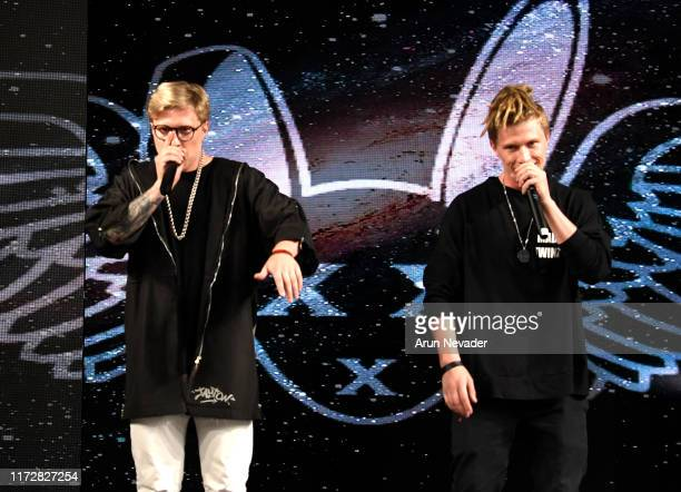 Mad TwinZ Pavel and Evgeny perform during MISTER TRIPLE X At New York Fashion Week Powered by Art Hearts Fashion September 2019 at The Angel Orensanz...