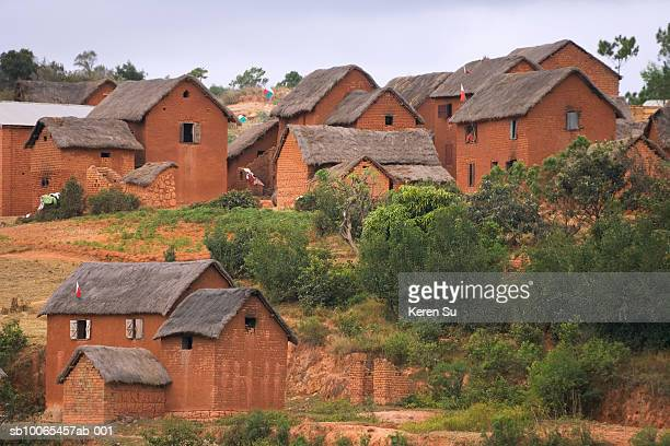 Madagascar, Antananarivo, local village houses