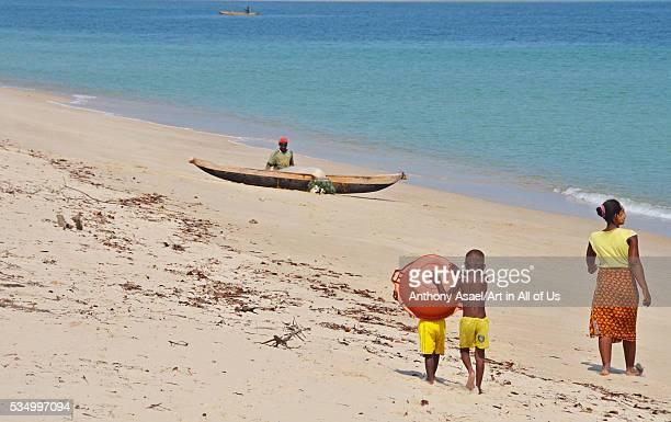 Madagascar Belo sur Mer kids playing on the beach
