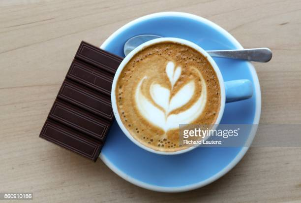 TORONTO ON OCTOBER 5 Madagascar chocolate with a cappuccino Soul Chocolate is now open for business on Gerrard Street East at Broadview Owners and...