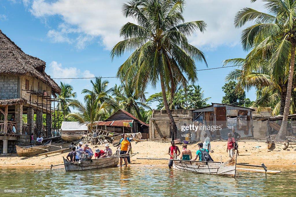 Madagascar Fishing Village : Stock Photo
