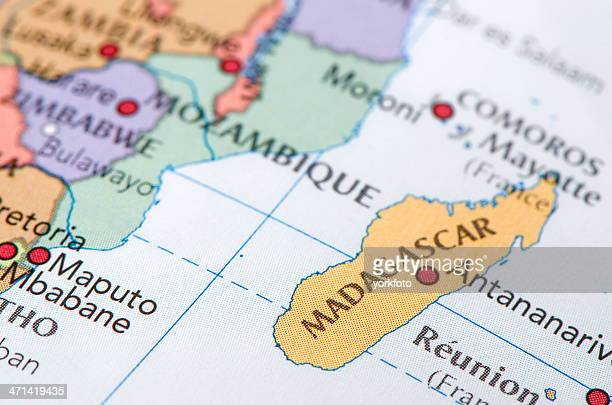 madagascar map - madagascar stock pictures, royalty-free photos & images