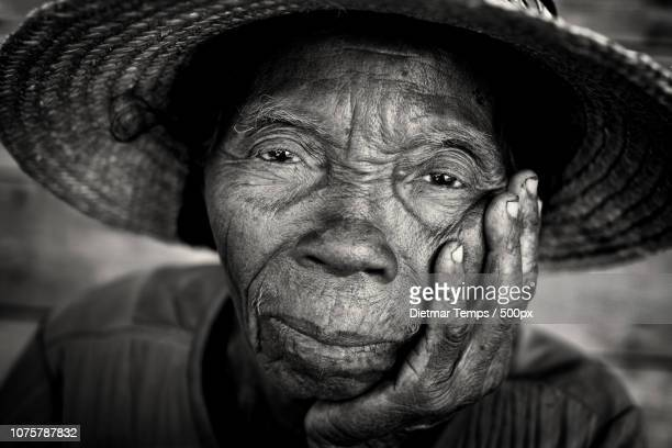 madagascar, old lady - dietmar temps stock photos and pictures
