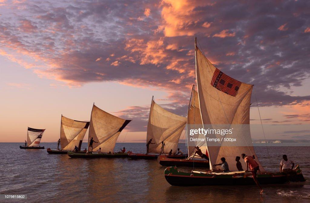 Madagascar, pirogues : Stock-Foto