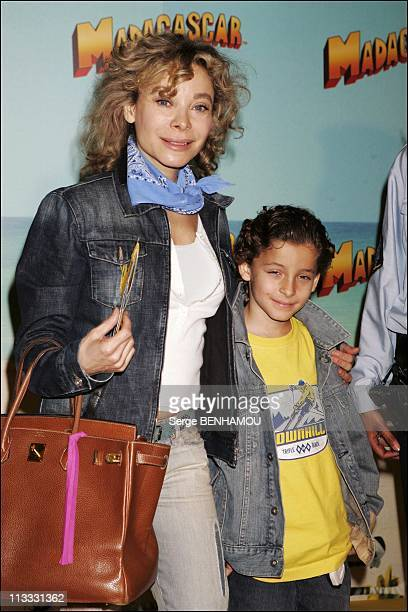 Madagascar Premiere In Paris On June 12Th 2005 In Paris France Here Grace De Capitani And Her Son Julien