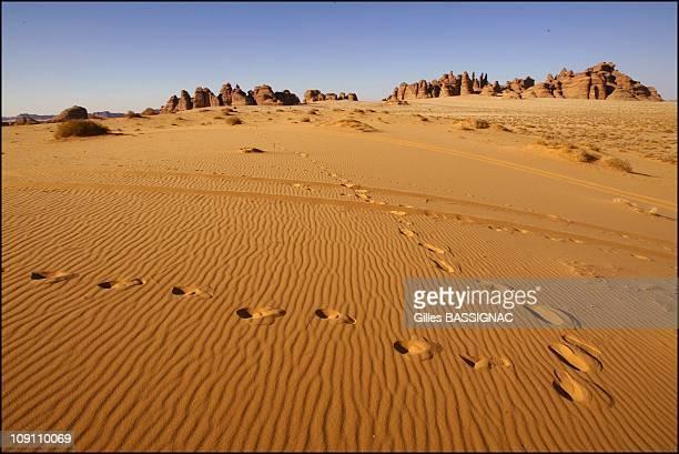 Mada'In Salah The Second Nabataean Capital On June 1 2003 In Saudia Arabia In The Background Mount Ethlib