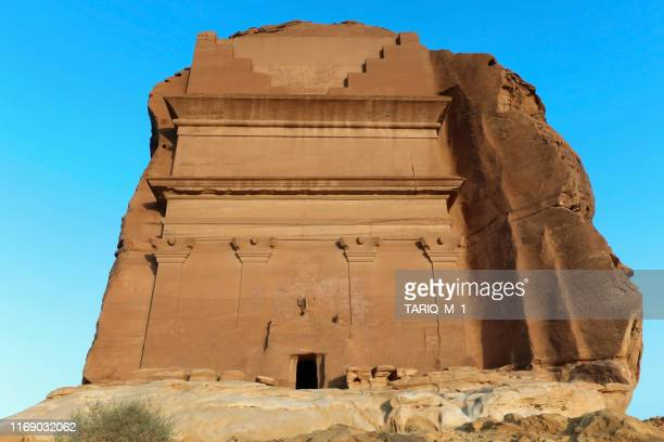 mada'in saleh, al madinah region, hejaz, saudi arabia - al madinah stock pictures, royalty-free photos & images