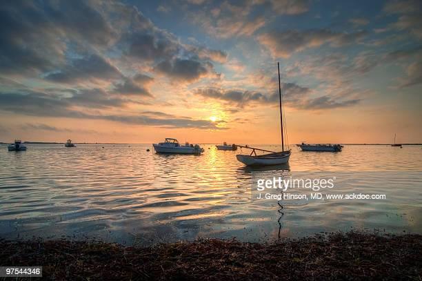 madaket harbor - nantucket stock pictures, royalty-free photos & images