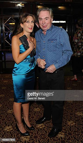 Madalena Alberto and Lord Lloyd Webber attend the press night performance of Evita at the Dominion Theatre on September 22 2014 in London England