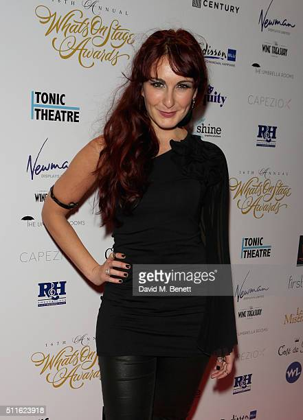 Madalena Alberto attends the 16th Annual WhatsOnStage Awards at The Prince of Wales Theatre on February 21 2016 in London England