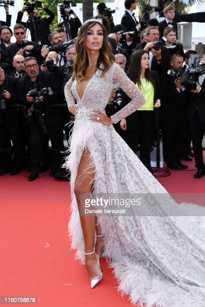 Madalina Diana Ghenea attends the screening of Once Upon A Time In Hollywood during the 72nd annual Cannes Film Festival on May 21 2019 in Cannes...