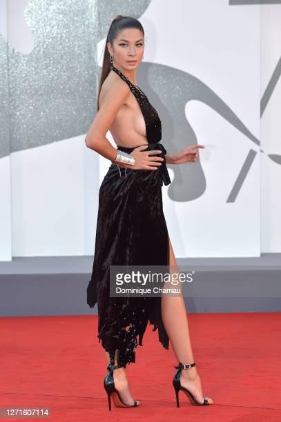 Madalina Doroftei walks the red carpet ahead of the movie Sniegu Juz Nigdy Nie Bedzie at the 77th Venice Film Festival on September 07 2020 in Venice...