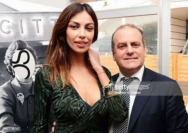 Madalina Ghenea and Pascal Vicedomini attend the Film & Music Ischia Global Fest Presentation during the 65th Annual Cannes Film Festival at on May...