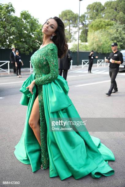 Madalina Ghenea arrives at the amfAR Gala Cannes 2017 at Hotel du CapEdenRoc on May 25 2017 in Cap d'Antibes France