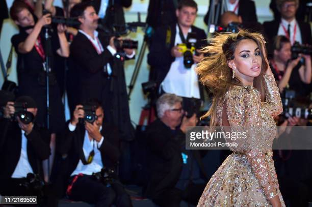 Madalina Ghenea arrives on August 29 2019 for the screening of the film Ad Astra during the 76th Venice Film Festival at Venice Lido