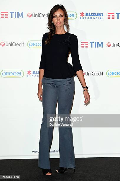Madalina Ghenea attends a photocall at 66 Sanremo Festival on February 10 2016 in Sanremo Italy
