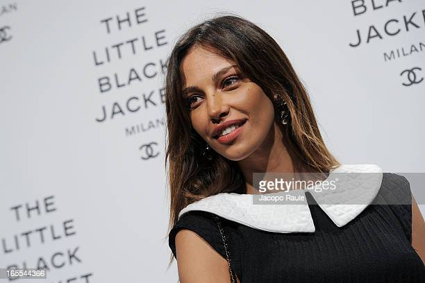 Madalina Ghenea attends Chanel The Little Black Jacket - Karl Lagerfeld Photography Exhibition Dinner Party on April 4, 2013 in Milan, Italy.