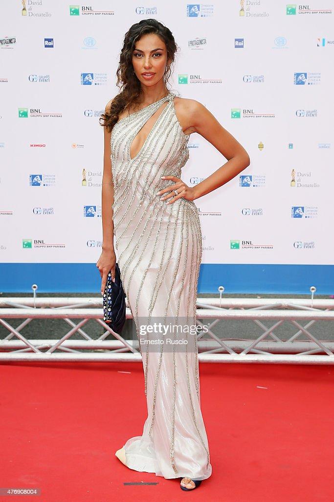 Madalina Ghenea attends the '2015 David Di Donatello' Awards Ceremony at Teatro Olimpico on June 12, 2015 in Rome, Italy.