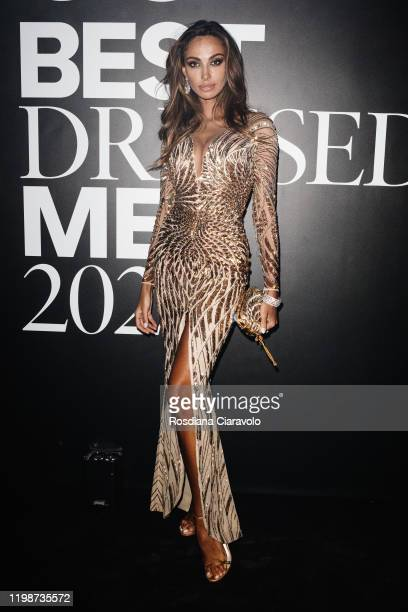 Madalina Ghenea attends the GQ Best Dressed Man 2020 on January 10 2020 in Milan Italy