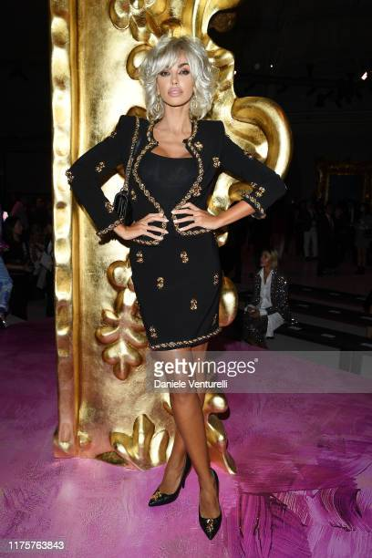 Madalina Ghenea attends the Moschino fashion show during the Milan Fashion Week Spring/Summer 2020 on September 19 2019 in Milan Italy