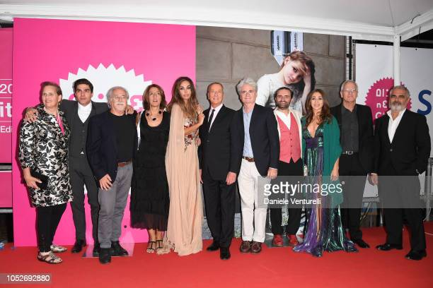 Madalina Ghenea Barry Monroe and cast of the movie walk the red carpet ahead of the 'All You Ever Wished For' screening during the 13th Rome Film...