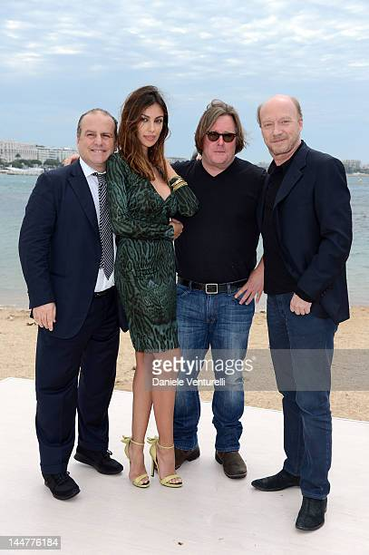 Madalina Ghenea, Pascal Vicedomini, William Monahan and Paul Haggis attend the Film & Music Ischia Global Fest Presentation during the 65th Annual...