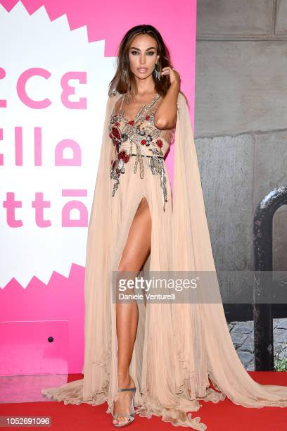 """Madalina Ghenea walks the red carpet ahead of the """"All You Ever Wished For"""" screening during the 13th Rome Film Fest at Auditorium Parco Della Musica..."""