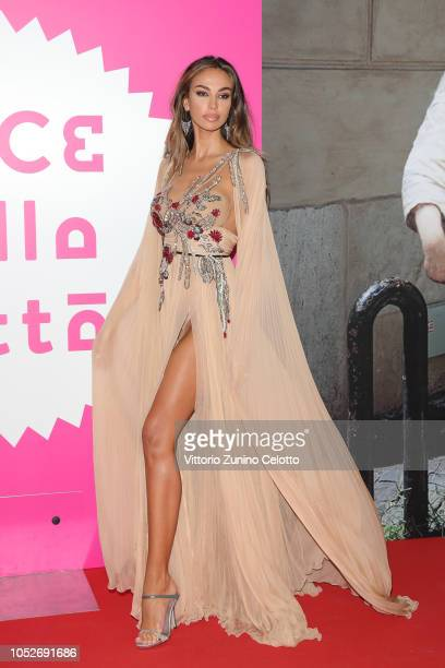 Madalina Ghenea walks the red carpet ahead of the 'All You Ever Wished For' screening during the 13th Rome Film Fest at Auditorium Parco Della Musica...