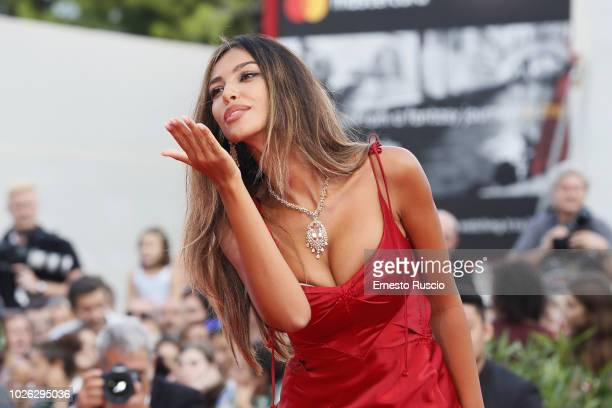 Madalina Ghenea walks the red carpet ahead of the 'The Sisters Brothers' screening during the 75th Venice Film Festival at Sala Grande on September 2...