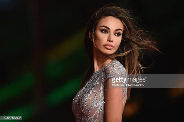 Madalina Ghenea walks the red carpet during the 13th Rome Film Fest at Auditorium Parco Della Musica on October 22 2018 in Rome Italy