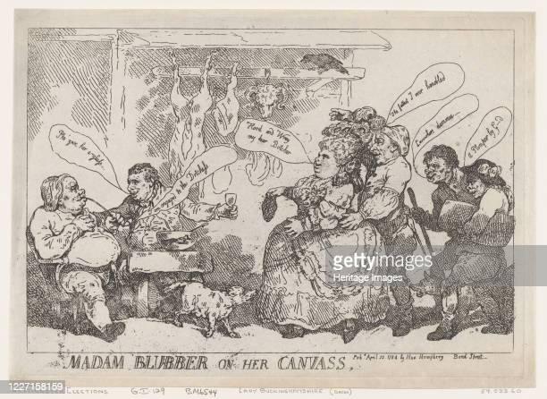 Madam Blubber On Her Canvass April 22 1784 Artist Thomas Rowlandson