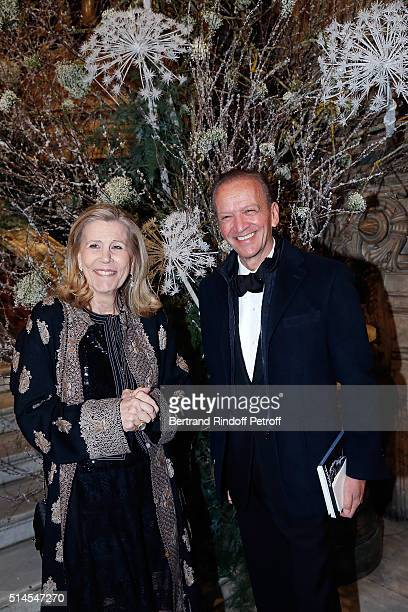 Madam Louis Schweitzer and Jerome Francois Zieseniss attend the Arop Charity Gala At the Opera Garnier under the auspices of Madam Maryvonne Pinault...